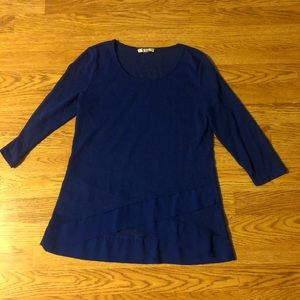 Blue Long Sleeved Top